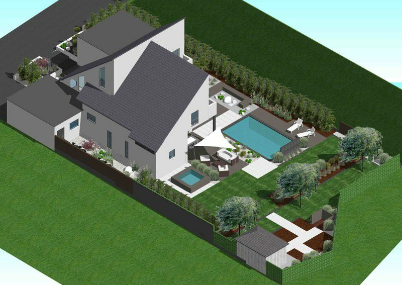 Plans 3d am nagements ext rieurs sur mesure jardin 3d en for Plan 3d exterieur