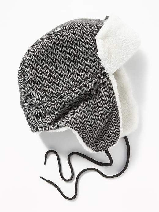 Old Navy Patterned Sherpa-Trim Trapper Hat for Men  7bb1cfb89f2c