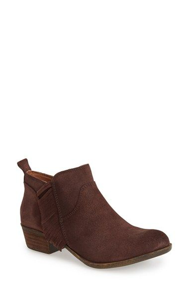 Lucky Brand 'Banji' Fringe Bootie (Women) available at #Nordstrom