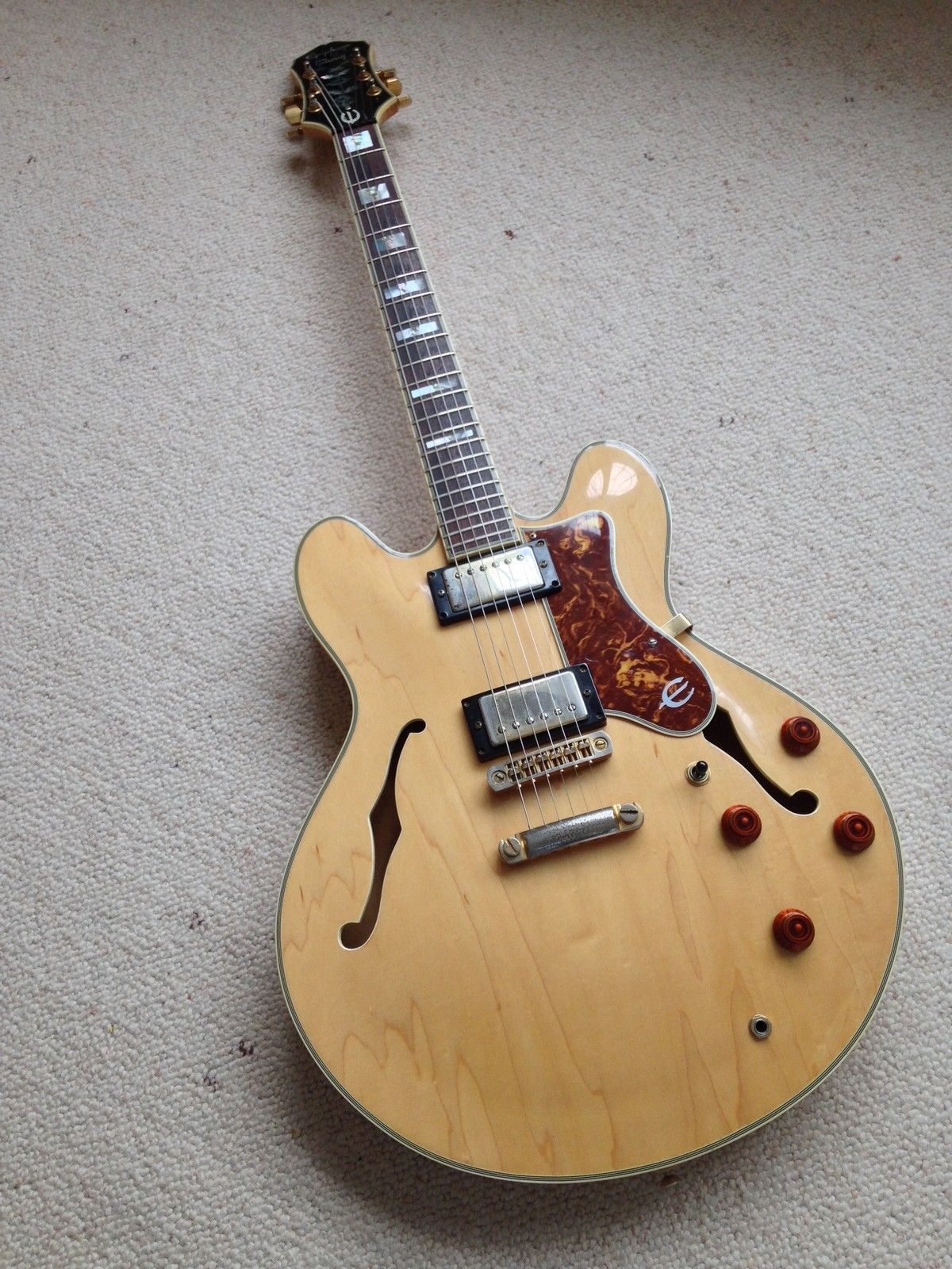 RARE EPIPHONE \'BY GIBSON\' SHERATON II \'NATURAL\' 1987 MADE IN KOREA ...