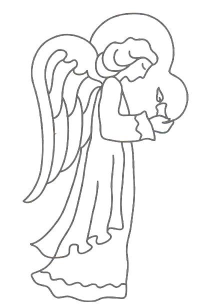Free Printable Angel Patterns And Angel Symbols Angel Coloring Pages Angel Outline Cat Coloring Page