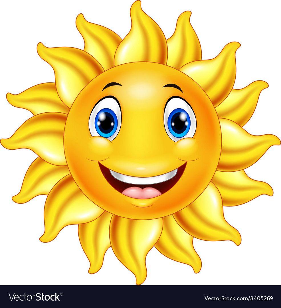 Cute Smiling Sun Cartoon Royalty Free Vector Image Affiliate