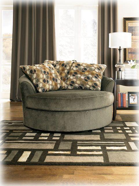 Kirkwood Oversize Swivel Chair In Charcoal $452