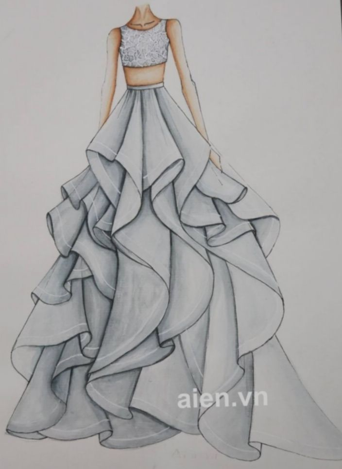 Pin By Priyanka On Pencil Sketching Dress Design Drawing Fashion Drawing Dresses Fashion Design Sketchbook