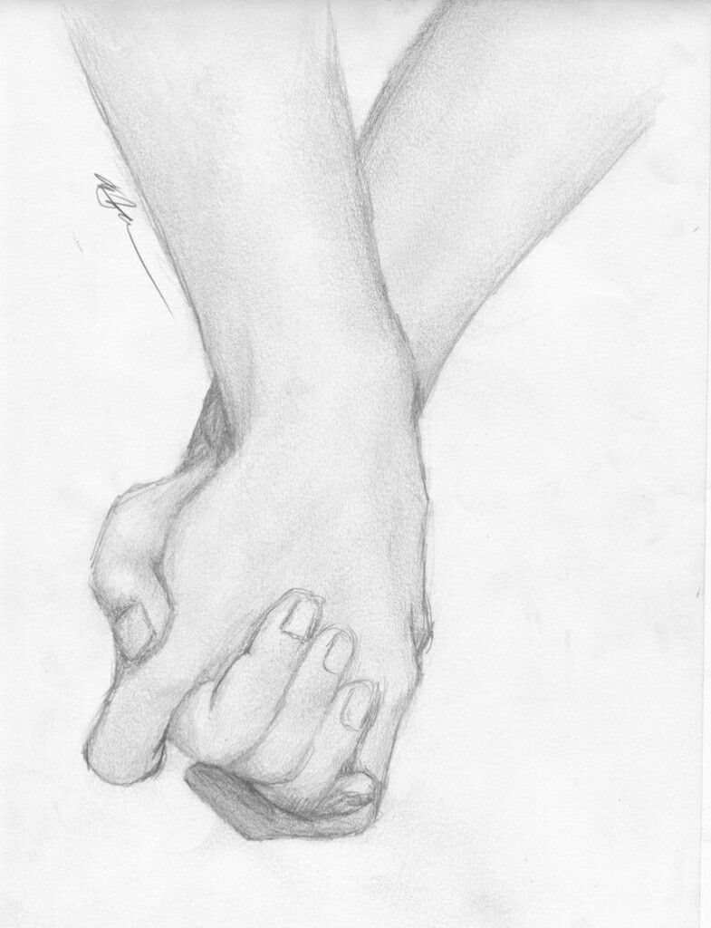Holding hands drawing boy and girl art drawing holdinghands