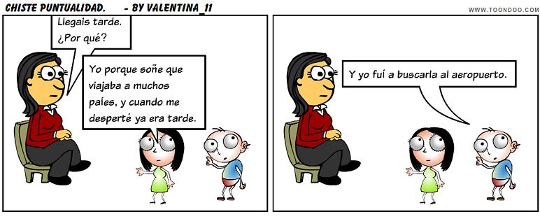 Comic Sobre La Puntualidad Hecho Con Toondoo Por Valentina Comics Peanuts Comics