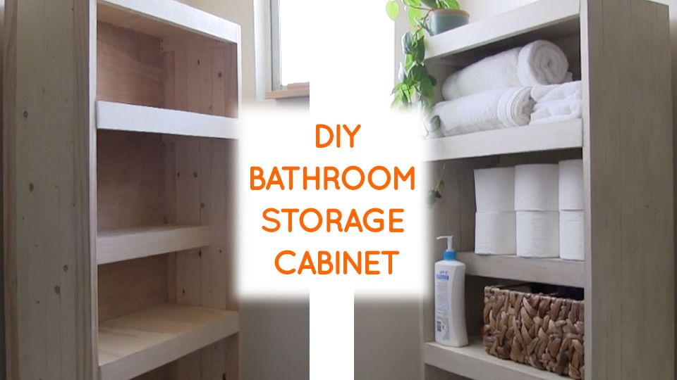 This Simple Diy Over The Toilet Storage Cabinet Is Perfect For