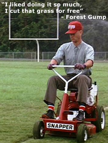 Forrest Gump Mowing Jpg 355 469 Funny Stuff That Makes Me Lawn Mower Forest Gump Forrest Gump