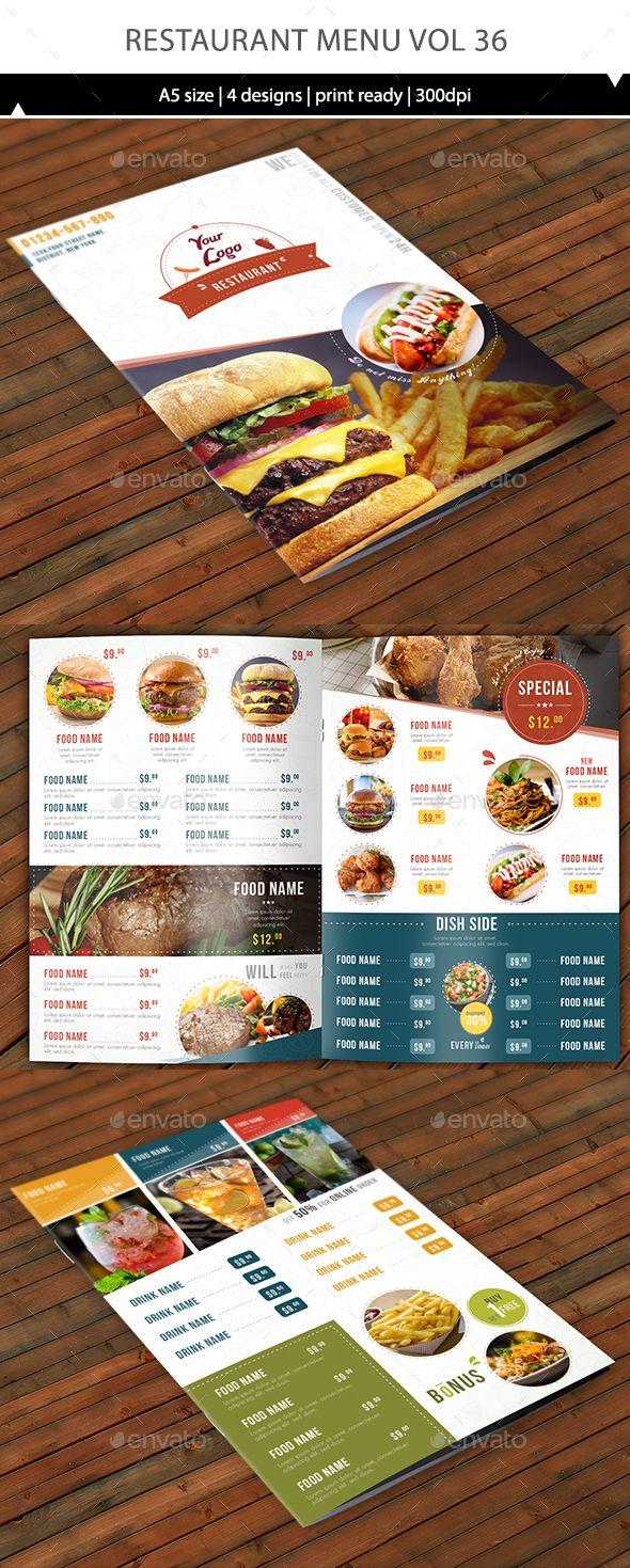 Restaurant Menu Vol 36 | Folletos, Revistas y Tarjetas
