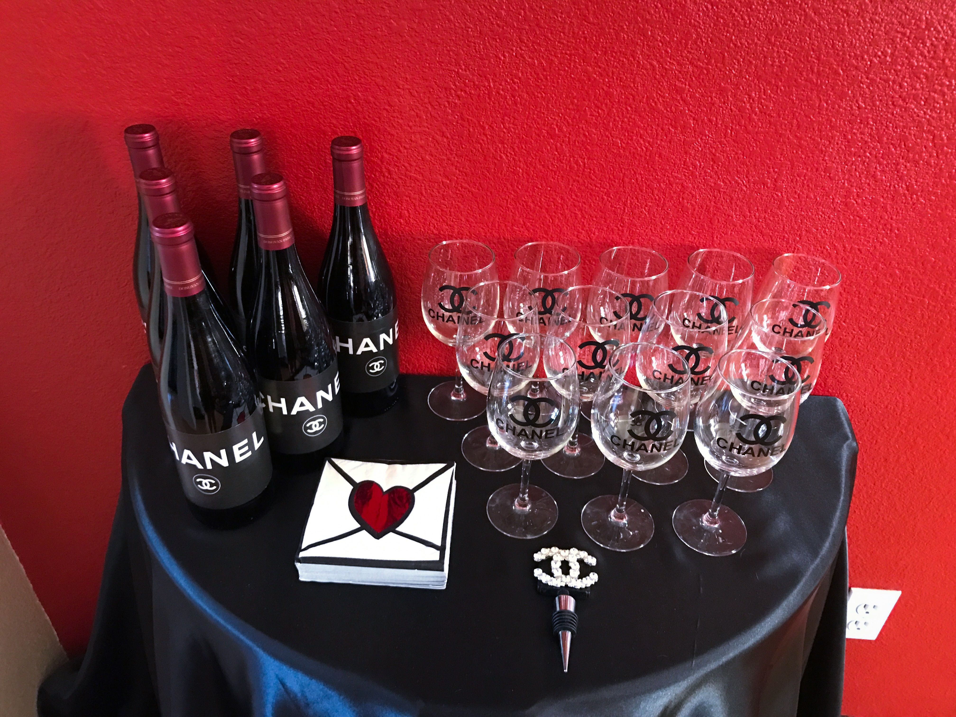 Chanel Inspired Baby Shower Chanel Inspired Alcoholic Drinks Red Wine