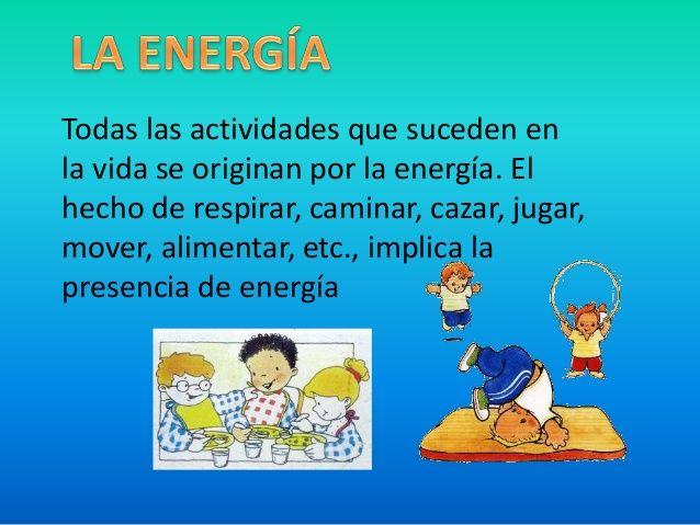 Que es la energia para ninos