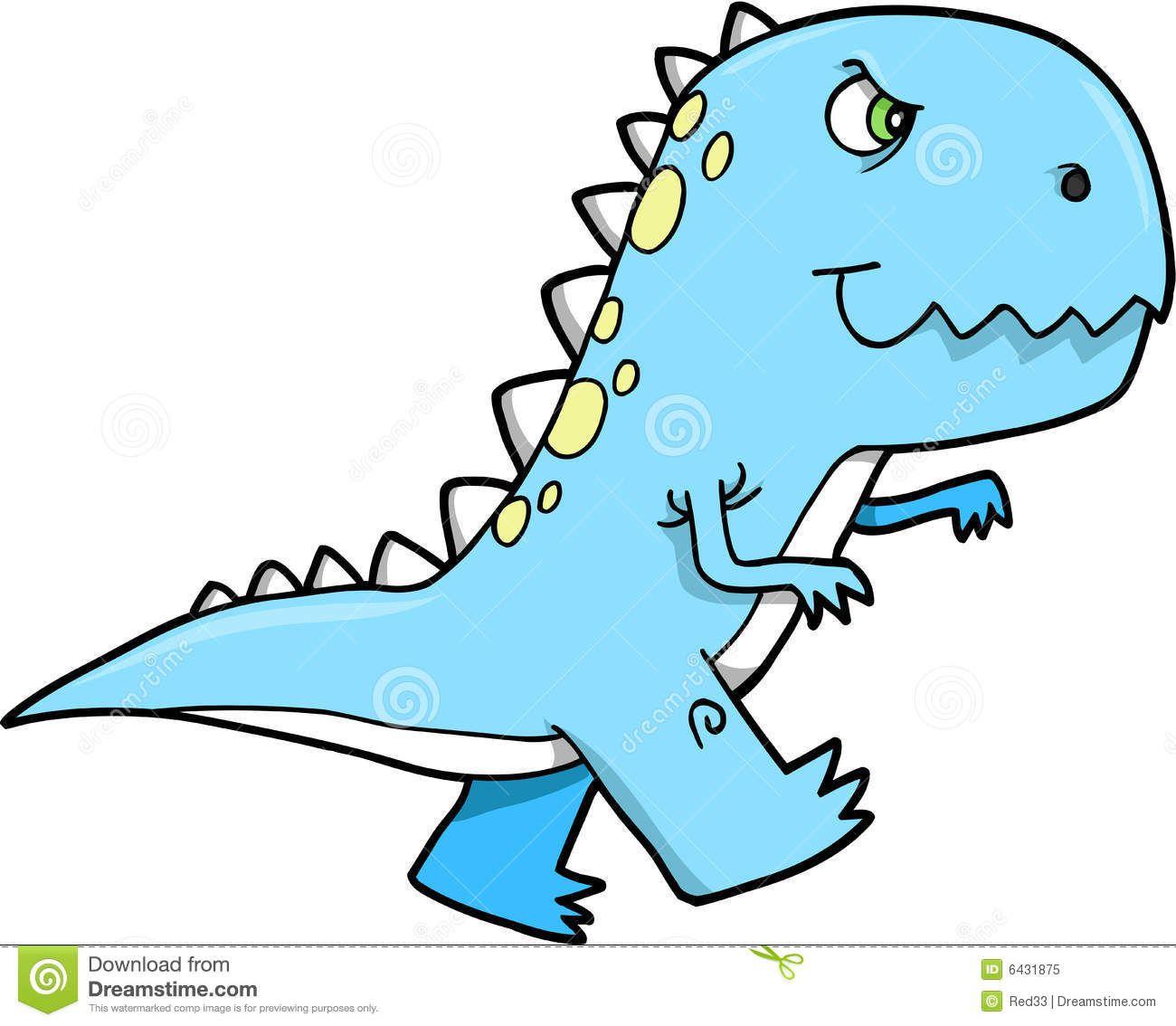 Cute Cartoon T Rex Cute T Rex Dinosaur Vector T Rex Cartoon