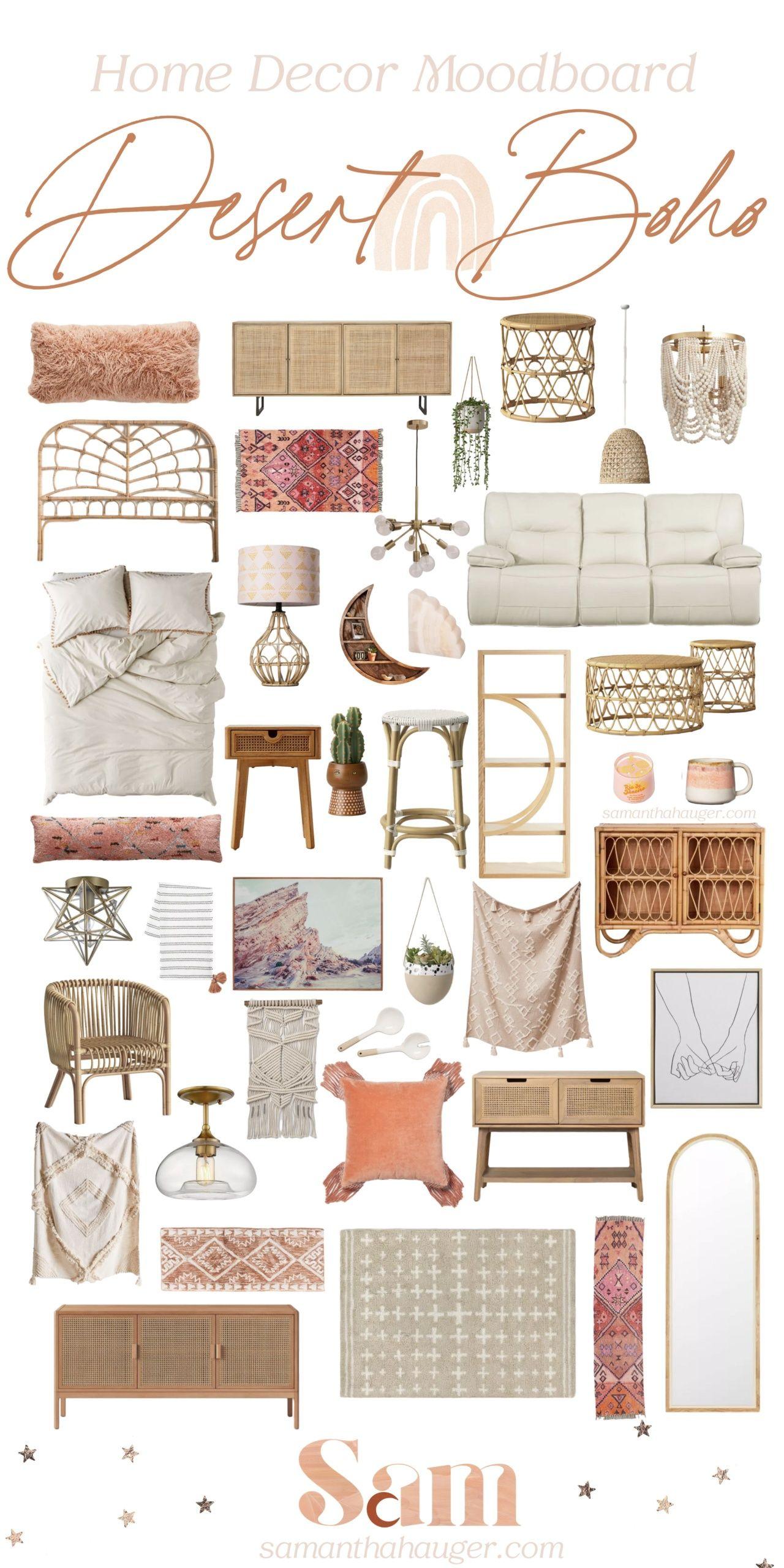 Boho Modern Home Decor Mood Board - Samantha Hauger in ...