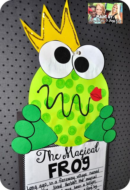 Fairy Tale Writing Frog Prince Craft 2nd Grade Fun Pinterest