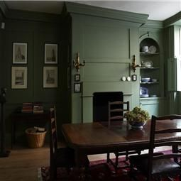 Best Colours Calke Green Farrow Ball Green Dining Room 400 x 300