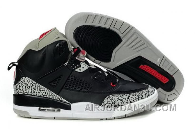 new style 50902 519d6 Low Cost Air Jordan Spizike Retro Mens Shoes Black Cemenst Grey from  Reliable Big Discount!