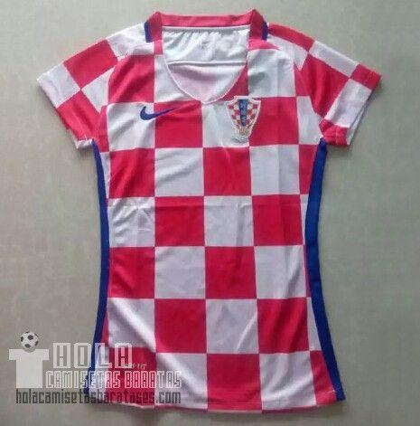 Camiseta Primera Mujer Croacia 2016 €20.5  9a92859b6e7b1