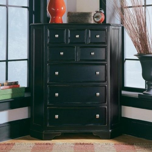 Black Camden Corner Chest Contemporary Dressers Pictures