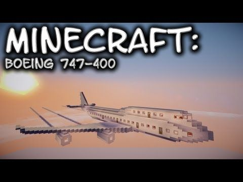 Minecraft Boeing 747 Tutorial Youtube Minecraft Minecraft