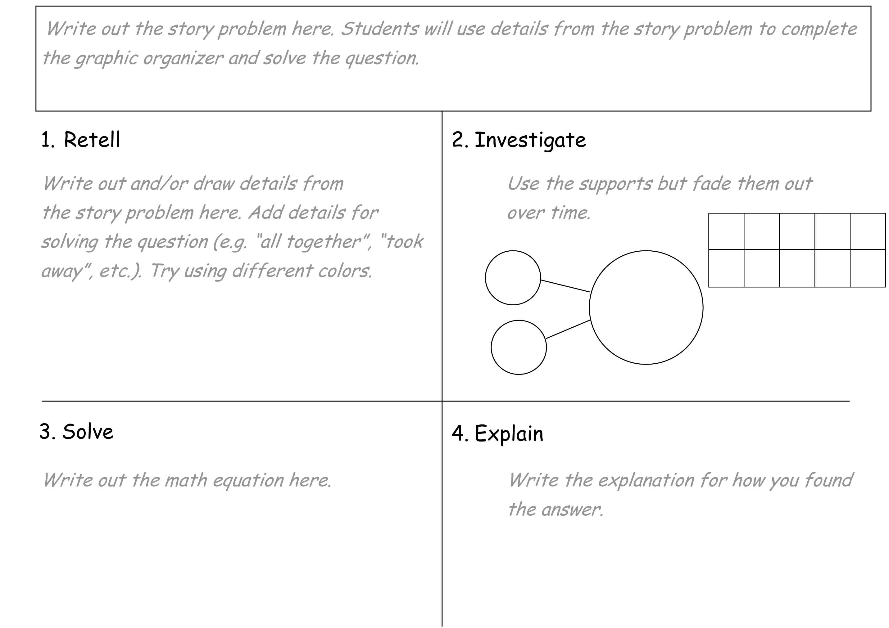 Math This Is A Rise Graphic Organizer With Descriptions