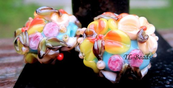 What I Like About You Handmade Lampwork Glass Floral by TLBeads, $17.00