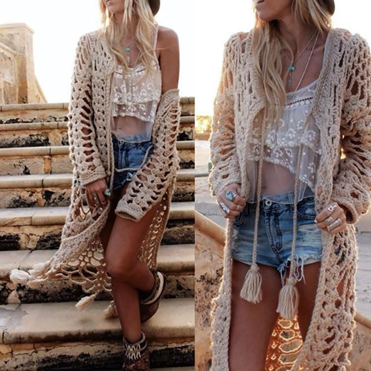 Slim knit cardigan sweater coat