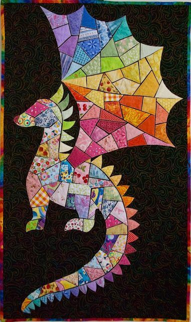 ticker tape quilt #dinosaurpics