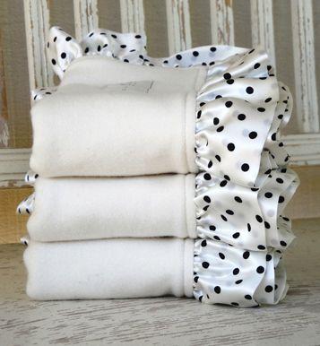 Fleece Organic Baby Blanket with Silk Ruffle | Pinterest
