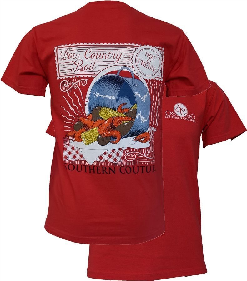 353e743bfce Southern Couture Comfort Colors Low Country Boil Crawfish Girlie Bright T  Shirt Available in sizes- S,M,L,XL,2X,3X