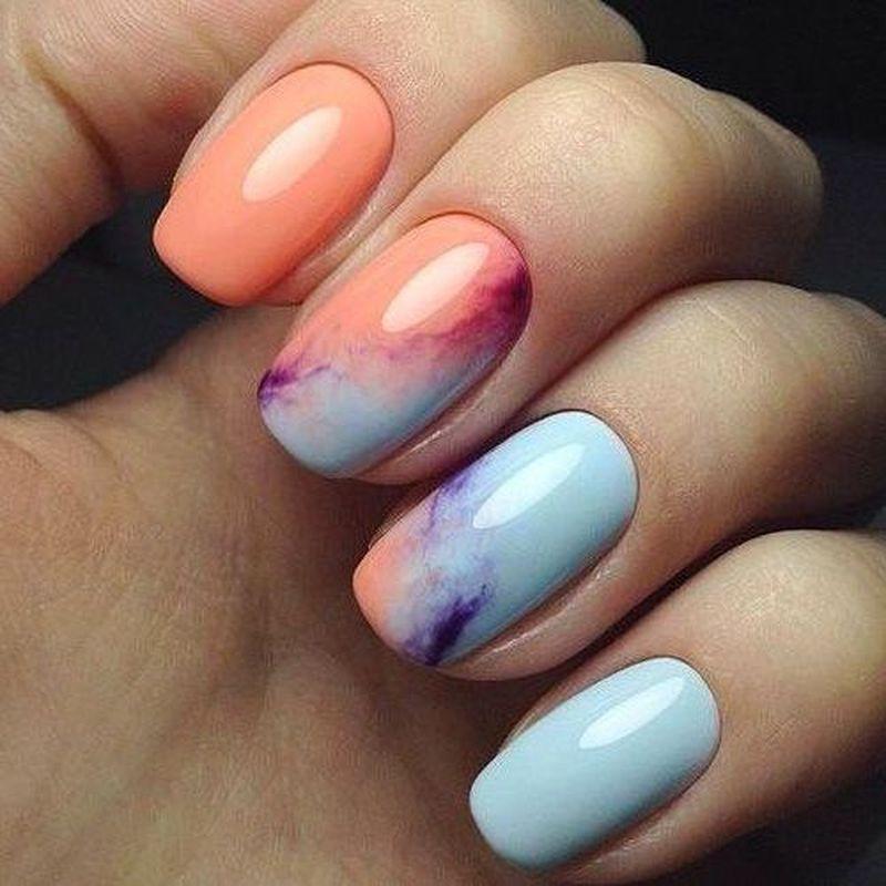 35 Cute Spring Nail Design Ideas With Bright Colour In 2020 Cute