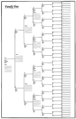 blank family tree chart template geneology pinterest family