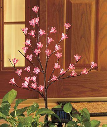 Led Cherry Trees Cherry Blossom Tree Solar Tree Lights Cherry Tree