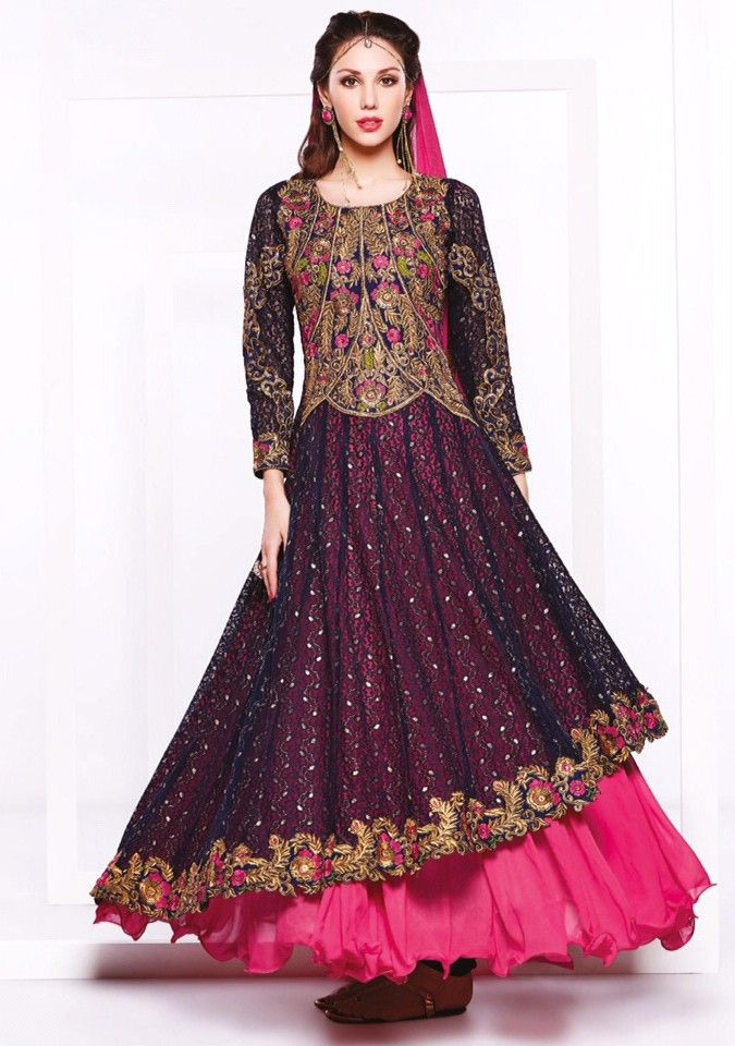 Pink Georgette #Wedding #Salwar #Kameez