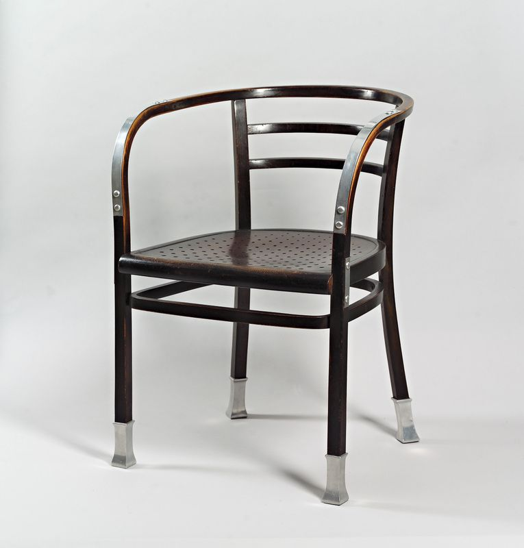Fancy Otto Wagner Bentwood Armchair mod num Designed for the Postsparkasse