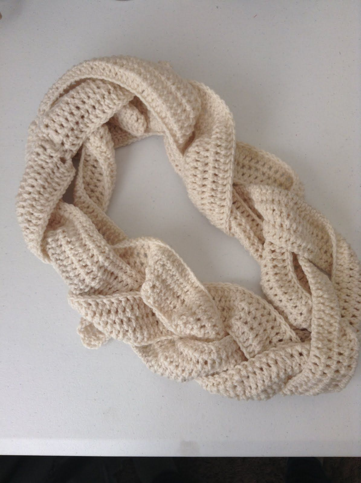 If you crochet, here is a new idea. Crochet three long pieces then ...