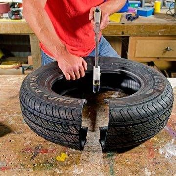 Diy How To Make A Tyre See Saw Tyres Recycle Tire Art Tire Playground
