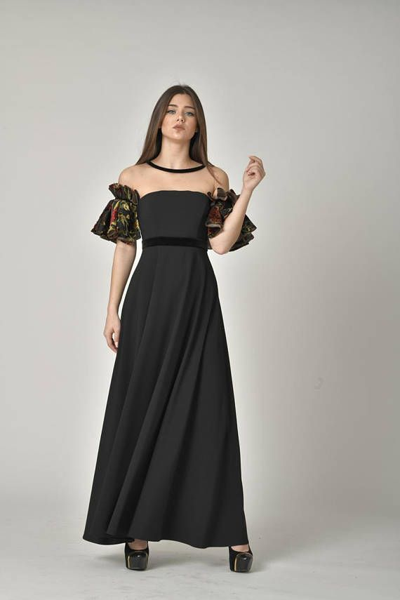 a6ed7245c50 Evening Vintage Style Gown  Formal Off Shoulder Dress  Ankle Length Evening  Wear  Prom Maxi Cocktai