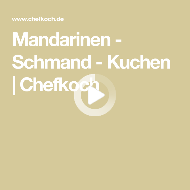 Mandarinen - Schmand