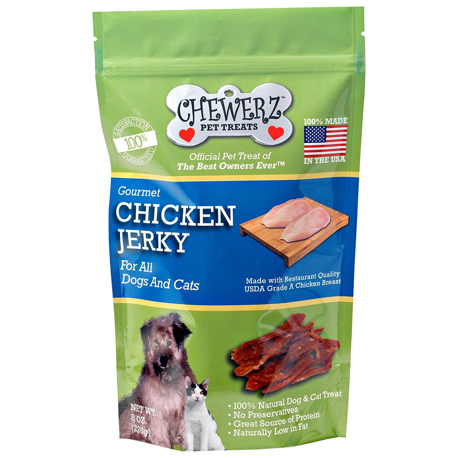 Chewerz Chicken Jerky Dog Treats Made In Usa Only Best Pet