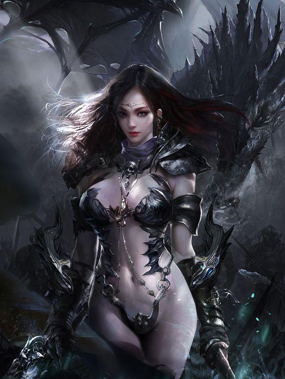 Fantasy art of nude women and men-3925