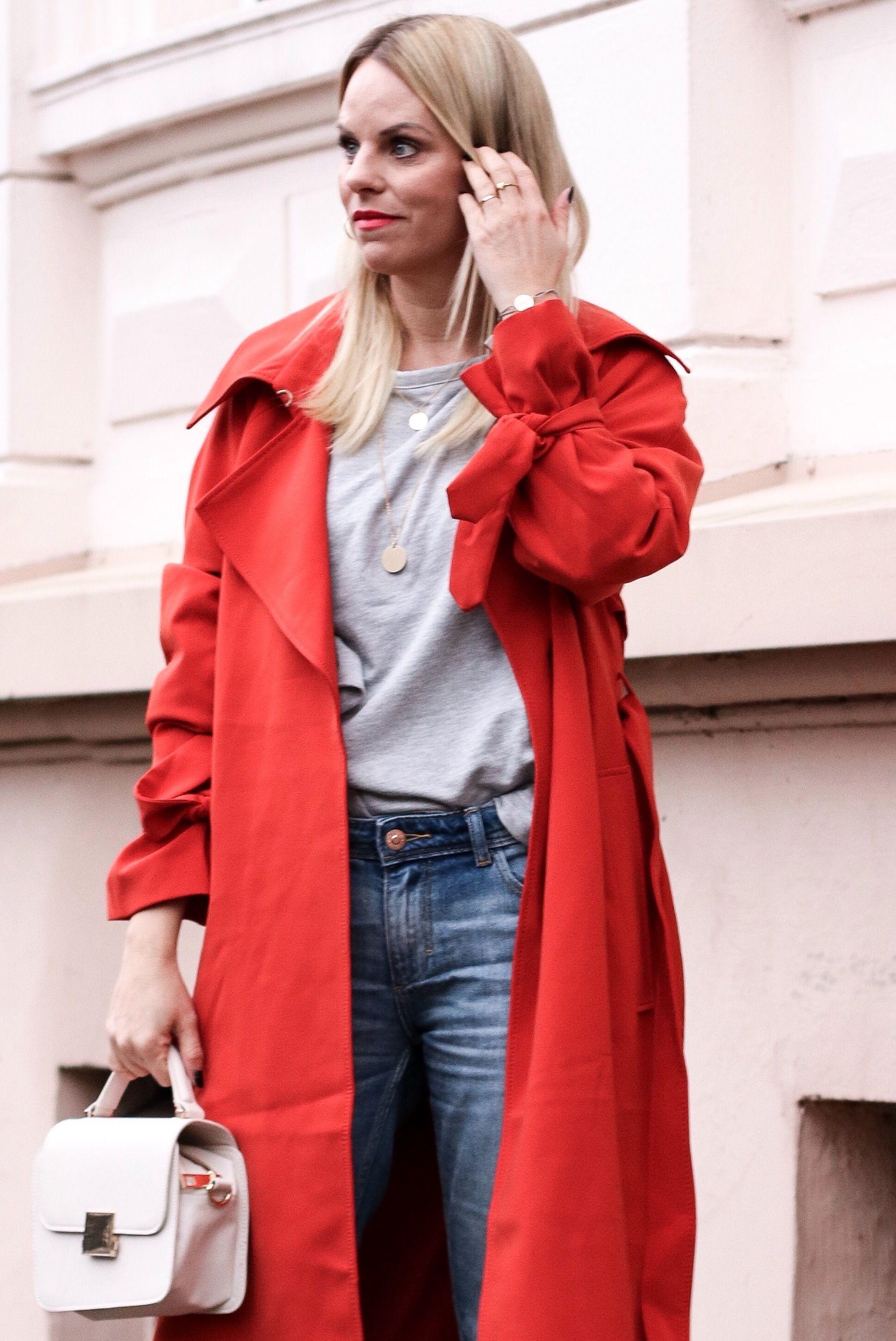 neueste trends von 2019 Wählen Sie für authentisch Werksverkauf In Love❤️❤️Mein neuer roter Trenchcoat mit ZARA Jeans ...