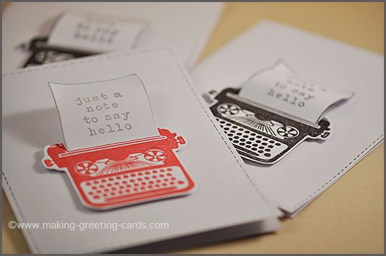 Make A Greeting Card With A 3d Effect Greeting Card Template Cards Greeting Cards