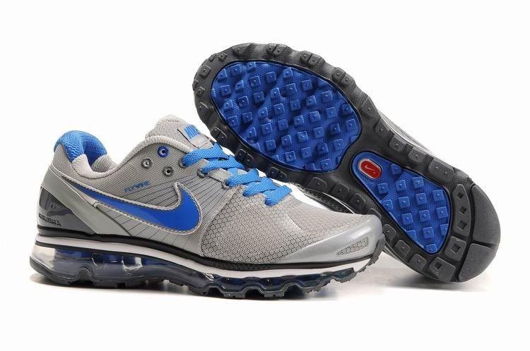 Nike Air Max 2010 Mesh Pour Homme Chaussures De Course Gris Argent Bleu Pas  Cher Paris