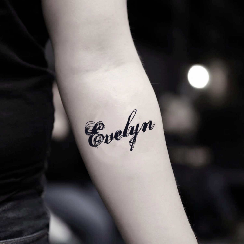 Evelyn Temporary Tattoo Sticker Set Of 2 Tatuajes De Nombres Tatuaje De Infinito Con Nombres Disenos De Tatuaje De Nombres