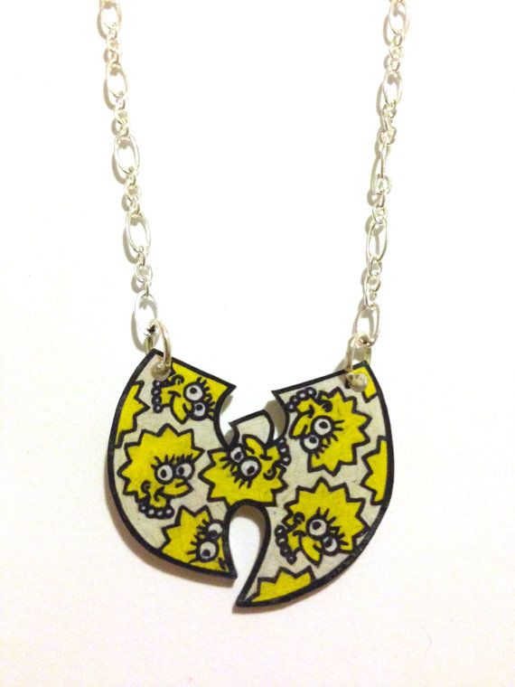 Simpsons meets wu tang necklace by houseofhades on etsy monieeee simpsons meets wu tang necklace by houseofhades on etsy aloadofball Images
