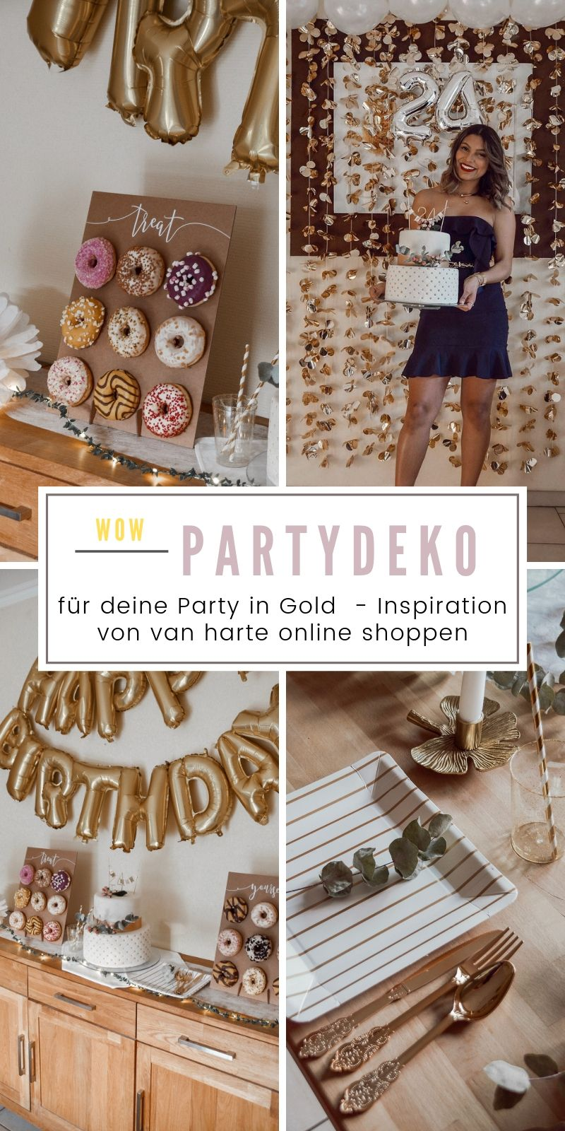 SHOP THE LOOK: Geburtstagsparty in Gold #50thbirthdaypartydecorations