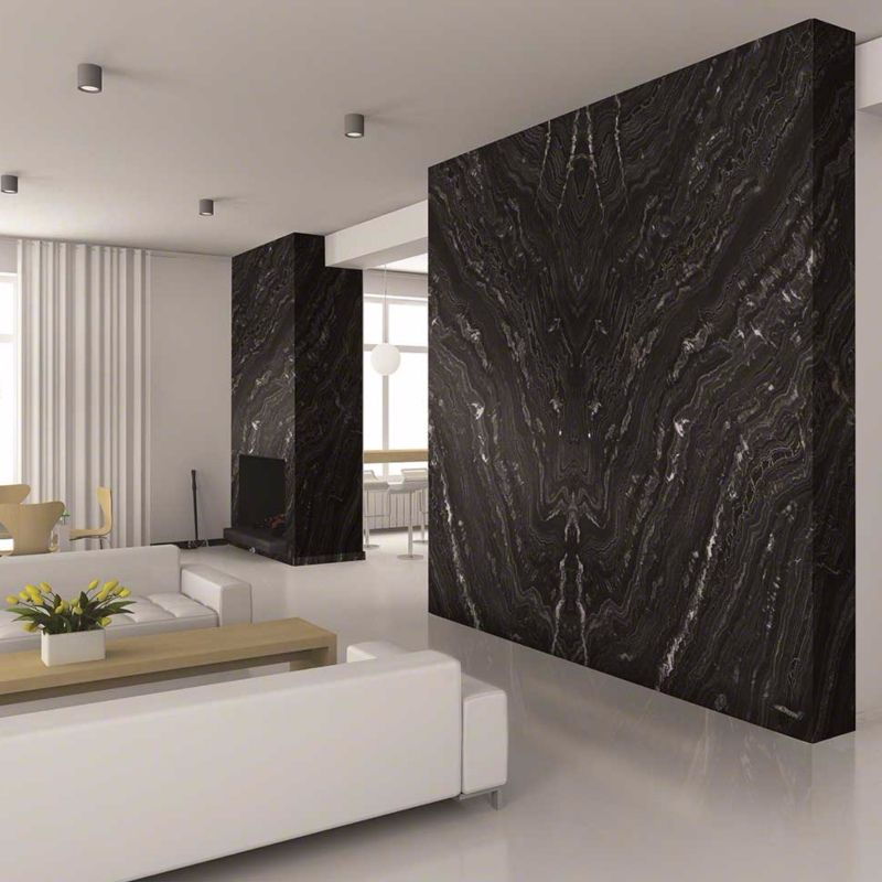 Image result for black granite accent walls