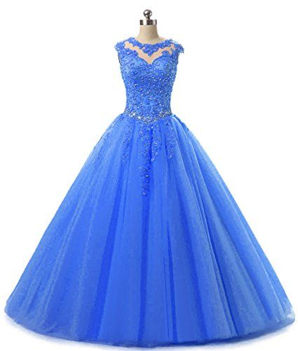 HEIMO Lace Appliques Ball Gown Evening Prom Dress Beading Sequined ...