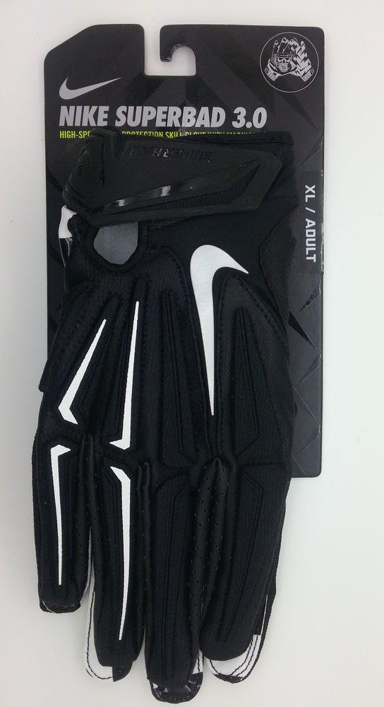 size 40 db8da a3787 NIKE SUPERBAD 3.0 MAGNIGRIP SKULL LOGO FOOTBALL GLOVES PAIR (ADULT XL) --  NEW  Nike