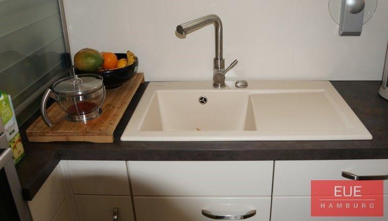 Keramikspüle Subway 45 Becken links - spülbecken küche keramik